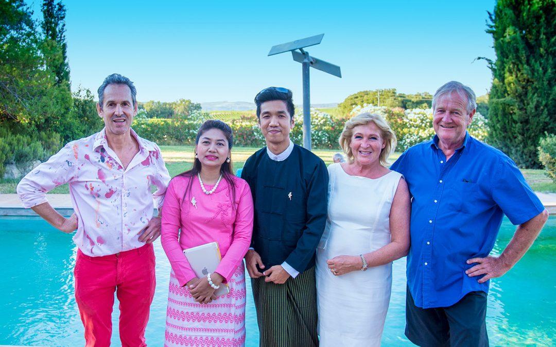 Vernissage Khin Zaw Latt, Min Wae Aung et Emmanuel Flipo