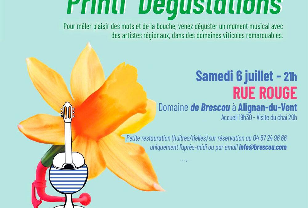 Printidégustation Concert Rue Rouge Samedi 6 Juillet