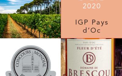 Le rosé Fleur d'été 2020 récompensé au concours mondial de Bruxelles