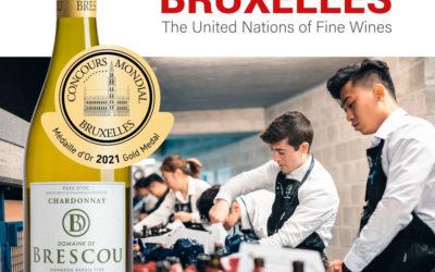 Médaille d'Or au concours mondial de Bruxelles pour le Chardonnay